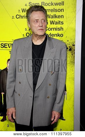 Christopher Walken at the Los Angeles premiere of