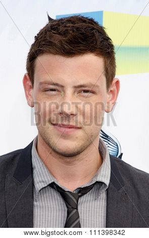 Cory Monteith at the 2012 Do Something Awards held at the Barker Hangar in Los Angeles on August 19, 2012.