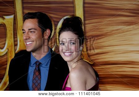 Zachary Levi and Mandy Moore at the Los Angeles Premiere of