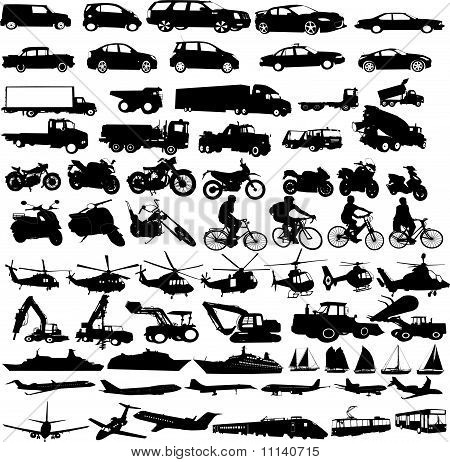 transportation silhouettes collection