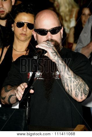 Kerry King of Slayer attends the Posthumoustly Induction of metal guitarist Dimebag Darrell Abbott into Hollywood's RockWalk held at the Guitar Center in Hollywood, California on May 17, 2007.