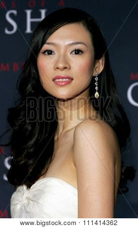 Ziyi Zhang attends the Los Angeles Premiere of
