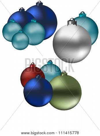 Colourful Christmas Globes
