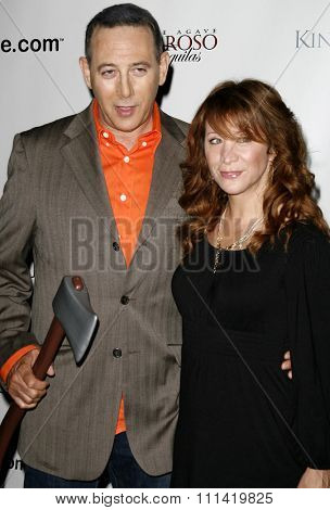 Paul Reubens and Cheri Oteri attend the