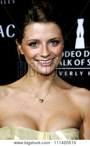 Mischa Barton attends the Rodeo Drive Walk Of Style Award honoring Gianni and Donatella Versace held at the Beverly Hills City Hall in Beverly Hills, California on February 8, 2007.