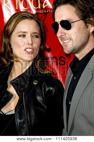 Tea Leoni and Luke Wilson attend the Los Angeles Premiere of