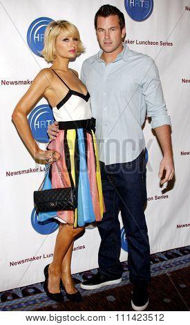 Paris Hilton and Doug Reinhardt at the HRTS'