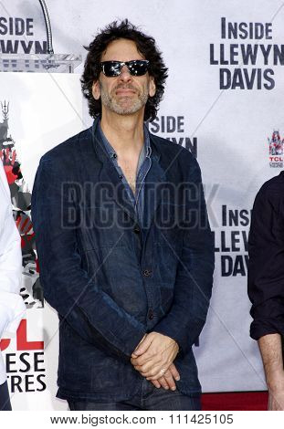 Joel Coen at the John Goodman Handprint and Footprint Ceremony held at the TCL Chinese Theatre in Los Angeles on November 14, 2013 in Los Angeles, California.
