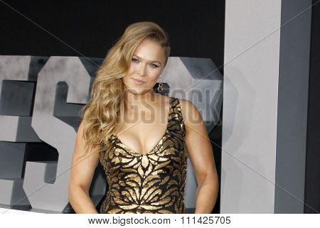 Ronda Rousey at the Los Angeles premiere of