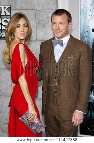 December 6, 2011. Jacqui Ainsley and Guy Ritchie at the Los Angeles premiere of