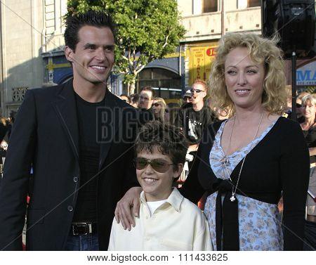 HOLLYWOOD, CALIFORNIA - June 27 2005. Antonio Sabato Jr., Virginia Madsen and son Jack attend at the