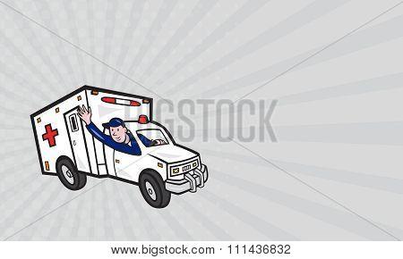 Business Card Ambulance Vehicle Emergency Medical Technician Paramedic