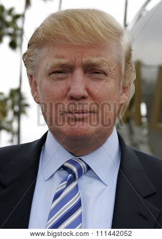 Donald Trump kicks off the sixth season casting call search for THE APPRENTICE held in the Universal Studios Hollywood, California on March 10, 2006.