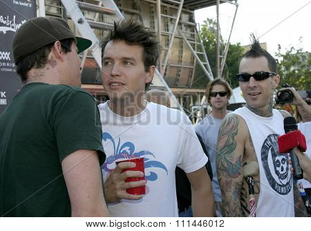 Blink 182 at the Standup For Skateparks benefit held at Pinz Bowling Alley in Studio City, California on October 3, 2004.