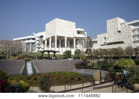 Los Angeles, California. J. Paul Getty Museum at 1200 Getty Center Drive, Los Angeles, CA 90049-1687.