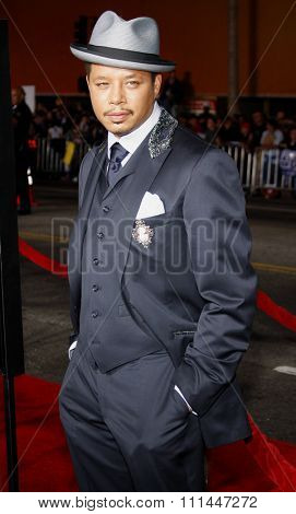 Terrence Howard at Los Angeles premiere of