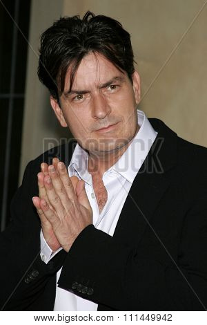 06/10/2006 - Bel Air - Charlie Sheen attends the Chrysalis' 5th Annual Butterfly Ball  held at Italian Villa Carla and Fred Sands in Bel Air, California, United States.