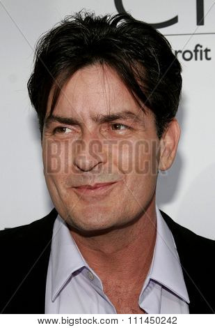 06/10/2006 - Bel Air - Charlie Sheen at the Chrysalis' 5th Annual Butterfly Ball  held at Italian Villa Carla and Fred Sands in Bel Air, California, United States.
