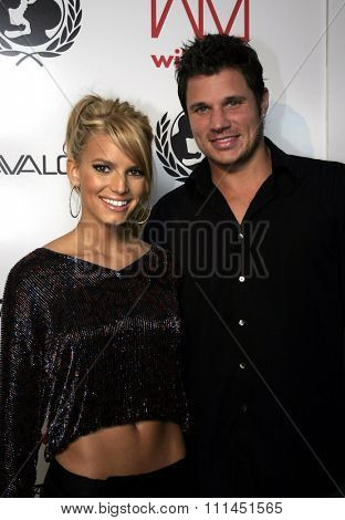 02/11/2005 - Hollywood - Jessica Simpson and Nick Lachey at the Tsunami Benefit Concert and Launch Event for the Will.I.am Music Group at Avalon.