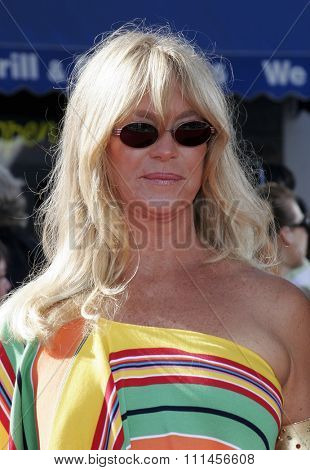WESTWOOD, CALIFORNIA. October 9, 2005. Goldie Hawn at the DreamWorks Pictures Premiere of 'Dreamer' at the Mann Village Theatre in Westwood, California United States.