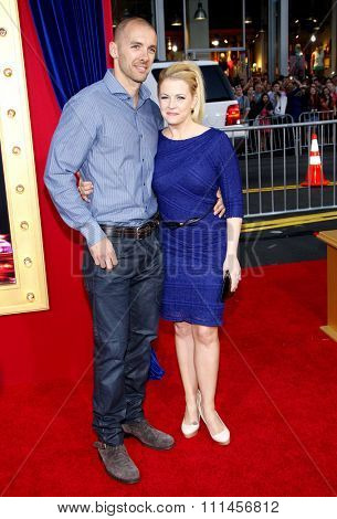 Melissa Joan Hart and Mark Wilkerson at the Los Angeles premiere of 'The Incredible Burt Wonderstone' held at the TCL Chinese Theater in Los Angeles, United States, 11/03/2013.
