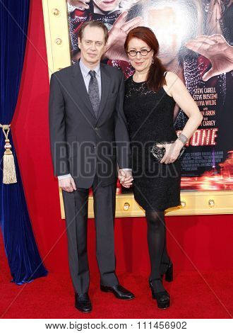 Steve Buscemi and Jo Andres at the Los Angeles premiere of 'The Incredible Burt Wonderstone' held at the TCL Chinese Theater in Los Angeles, United States, 11/03/2013.