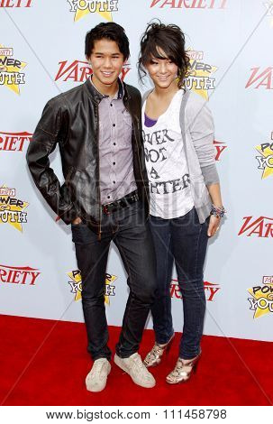 BooBoo Stewart and Fivel Stewart at the Variety's 3rd Annual Power Of Youth held at the Paramount Studios Lot in Hollywood on December 5, 2009.