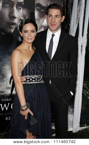 February 9, 2010. John Krasinski and Emily Blunt at the Los Angeles premiere of