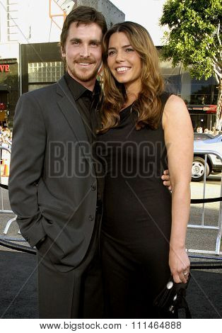 Christian Bale and wife Sibi Blazic attend the Los Angeles Premiere of
