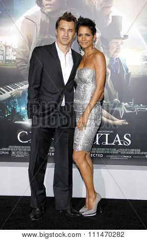 Halle Berry and Olivier Martinez at the Los Angeles premiere of 'Cloud Atlas' held at the Grauman's Chinese Theatre in Hollywood on October 24, 2012.