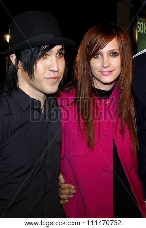 Pete Wentz and Ashlee Simpson attend the Los Angeles Premiere of