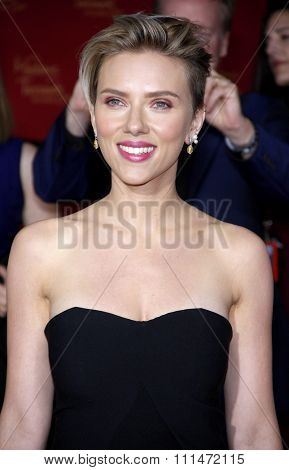 Scarlett Johansson at the World premiere of Marvel's 'Avengers: Age Of Ultron' held at the Dolby Theatre in Hollywood, USA on April 13, 2015.