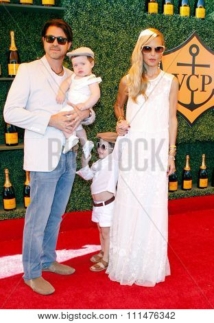 Rachel Zoe and Rodger Berman at the Fifth Annual Veuve Clicquot Polo Classic held at the Will Rogers State Historic Park in Los Angeles on October 11, 2014 in Los Angeles, California.