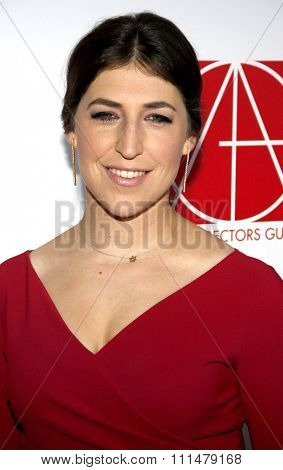 Mayim Bialik at the 19th Annual Art Directors Guild Excellence In Production Design Awards held at the Beverly Hilton Hotel in Beverly Hills on January 31, 2015.