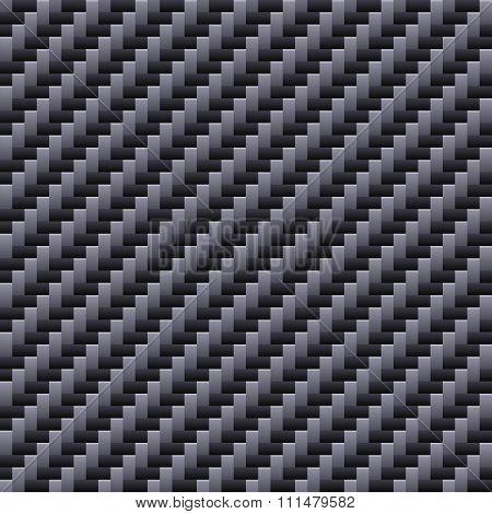 Carbon Seamless Fiber Background. Vector