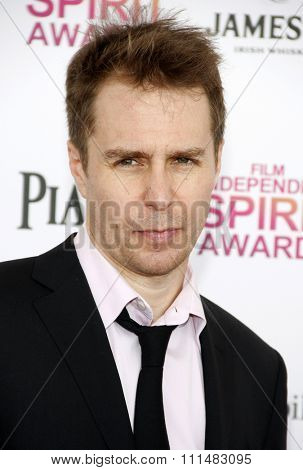 Sam Rockwell at the 2013 Film Independent Spirit Awards held at the Santa Monica Beach in Los Angeles, United States, 230213.