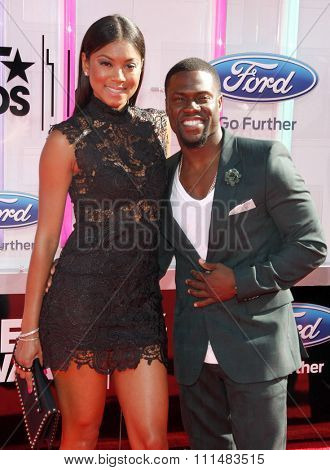 Kevin Hart and Eniko Parrish at the 2014 BET Awards held at the Nokia Theatre L.A. Live in Los Angeles, United States, 290614.