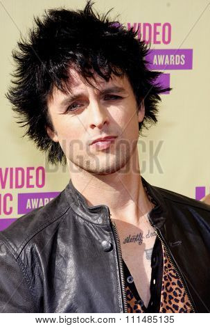 Billie Joe Armstrong at the 2012 MTV Video Music Awards held at the Staples Center in Los Angeles, United States on September 6, 2012.
