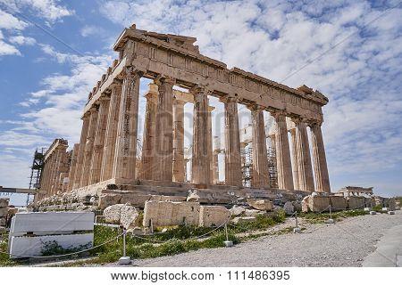 Athens Greee Parthenon temple on Acropolis