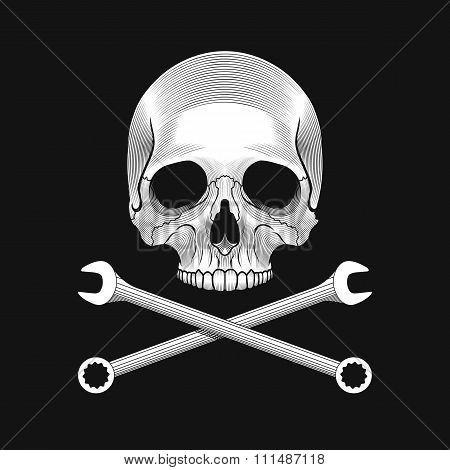 The skull and crossed wrenches