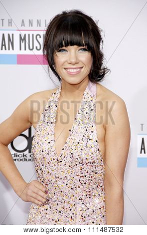 Carly Rae Jepsen at the 40th Anniversary American Music Awards held at the Nokia Theatre L.A. Live in Los Angeles, United States, 181112.