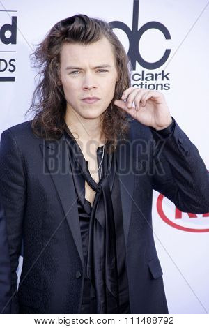 Harry Styles of One Direction at the 2015 Billboard Music Awards held at the MGM Garden Arena in Las Vegas, USA on May 17, 2015.
