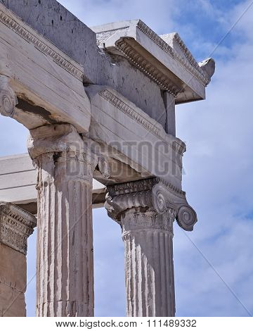 Athens Greece, detail of Parthenon ancient temple