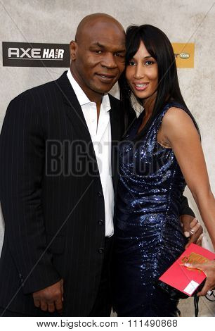 Mike Tyson and Lakhia Spicer at the 2010 Spike TV's Guys Choice Awards held at the Sony Pictures Studios in Culver City on June 5, 2010.