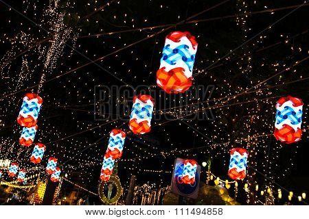 Bangkok - December 7: Decoration On Rachadamnoen Road For The Celebration Of The 88Th Birthday Of Hm