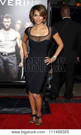 Halle Berry at the Los Angeles premiere of 'X-Men Origins: Wolverine' held at the Grauman's Chinese Theatre in Hollywood on April 28, 2009.