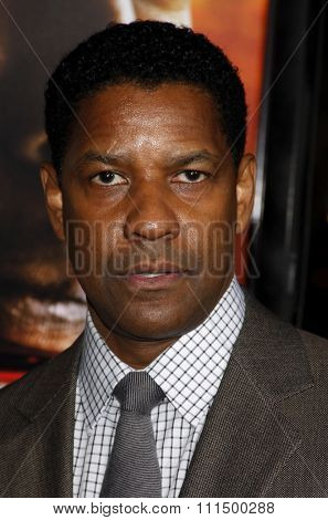 Denzel Washington at the Los Angeles premiere of 'Unstoppable' held at the Regency Village Theatre in Westwood on October 26, 2010.