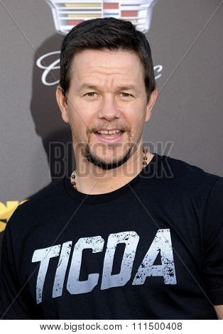 Mark Wahlberg at the Los Angeles premiere of 'Entourage' held at the Regency Village Theatre in Westwood on June 1, 2015.