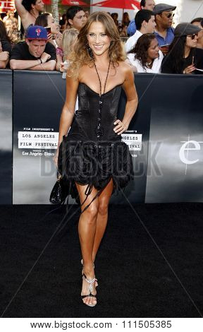 Edyta Sliwinska at the Los Angeles premiere of 'The Twilight Saga: Eclipse' held at the Nokia Theatre L.A. Live in Los Angeles on June 24, 2010.