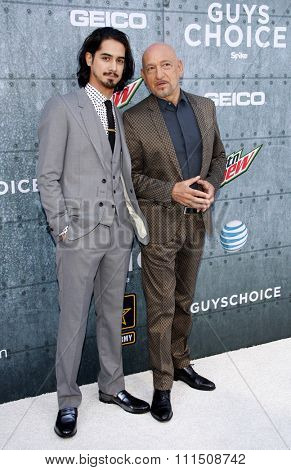 Sir Ben Kingsley and Avan Jogia at the 2015 Spike TV's Guys Choice Awards held at the Sony Pictures Studios in Culver City, USA on June 6, 2015.